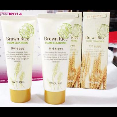 Sữa Rửa Mặt Gạo Brown Rice 3W Clinic
