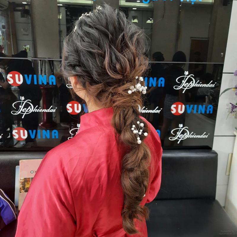 Bài thực hành bới tóc học viên lên mẫu tuần 3 tháng 7 năm 2021