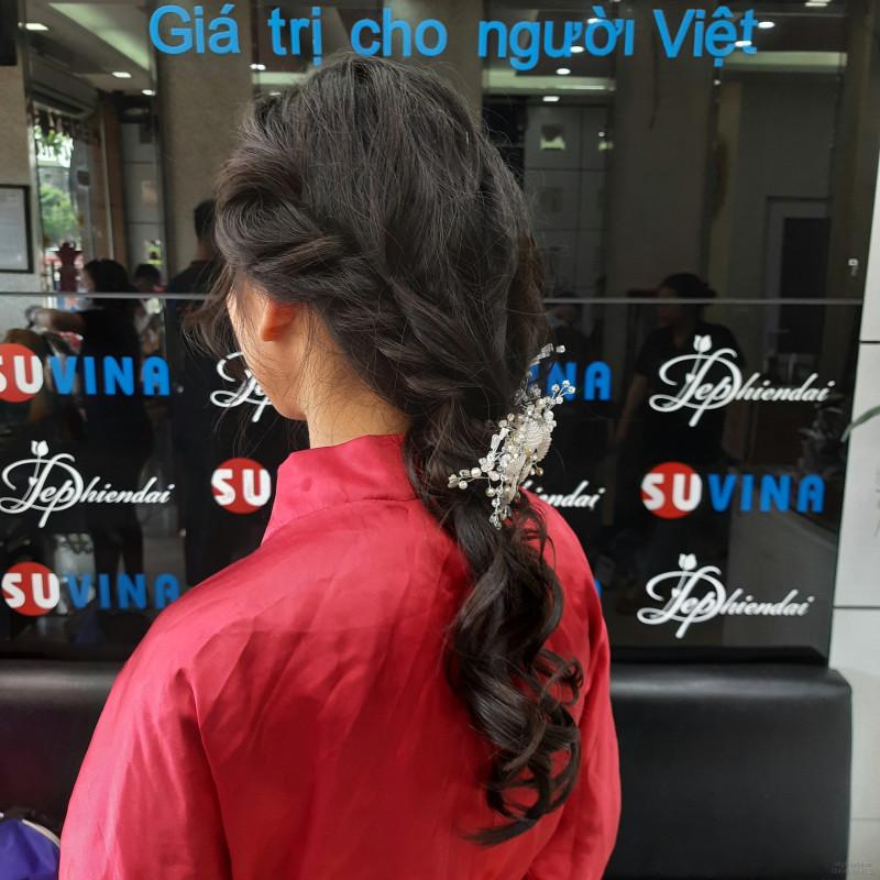 Bài thực hành bới tóc học viên lên mẫu tuần 4 tháng 7 năm 2021