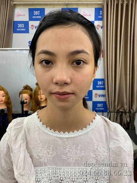 Bài thực hành make up và bới tóc học viên lên mẫu tuần 2 tháng 7 năm 2021