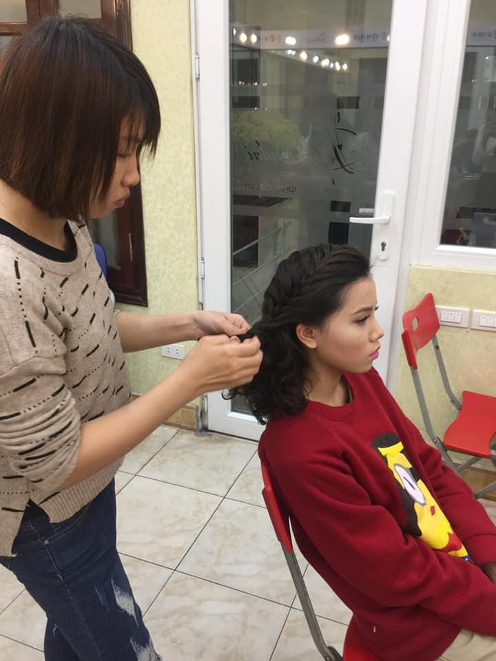 Bài thực hành bới tóc học viên tuần 3 tháng 12 - 2018