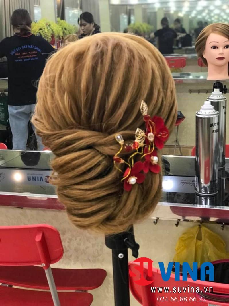 Bài thực hành bới tóc học viên tuần 3 tháng 10 năm 2019