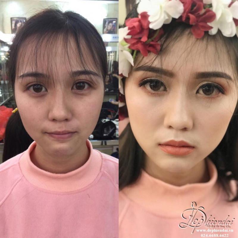 Bài thực hành Trang điểm và bới tóc cô dâu - Tuần 2 - Tháng 4 Năm 2018