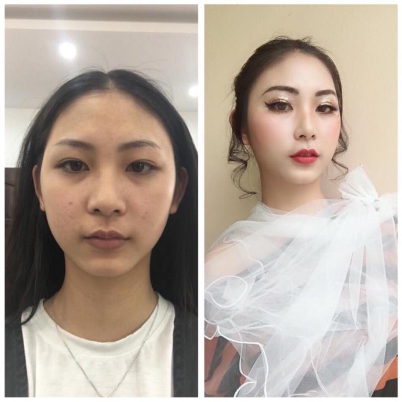 Bài thực hành Trang điểm và bới tóc cô dâu - Tuần 2- Tháng 4 Năm 2018