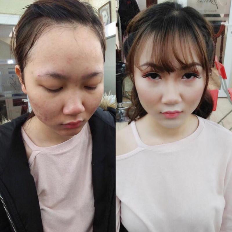 Bài thực hành Trang điểm và bới tóc cô dâu - Tuần 3 - Tháng 12