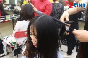 Dạy bới tóc chuyên nghiệp, học bới tóc cô dâu