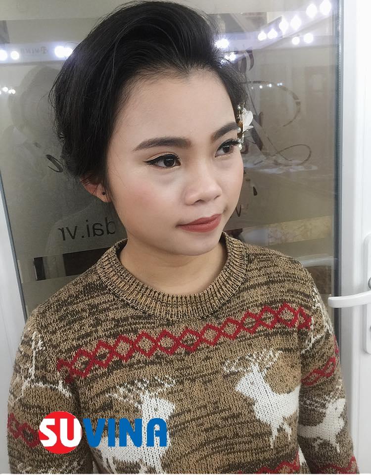 Make up cô dâu ngày cưới  Học viên : Thanh Tuyền ( buổi thứ 3)