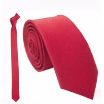 Cà Vạt Chú Rể Hàn Quốc 35K-Đỏ