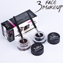 Set Gel Vẽ  Mí Nâu Và Đen 3 Face Makeup 24h