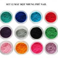 Set 12 Màu Bột Nhung Phủ Nail