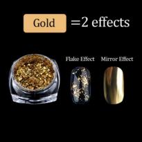 Nhũ Khổng Tước Tráng Gương 2 Trong 1 - Vàng