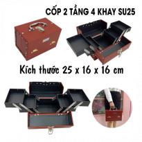 Cốp 2 Tầng 4 Khay Su25 - Đỏ Đun - 25x16x16cm